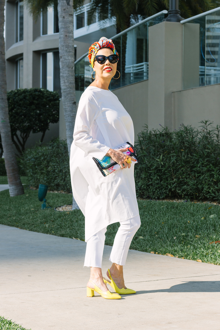 Powerful A White Tunic + Colorful Turban